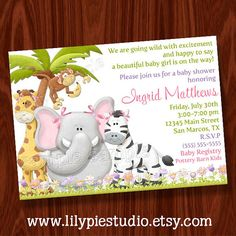 Jungle Safari Zoo Cupcake Toppers / Labels / Tags by LilyPieStudio