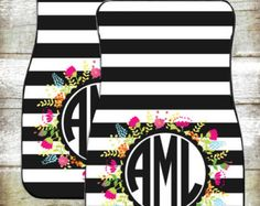 Monogram Car Mats-Car Accessories-Car by OhMyWordDesigns on Etsy