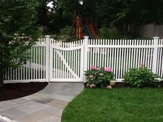 Image result for picket fence driveway gate