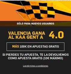 el forero jrvm y todos los bonos de deportes: betfair Valencia gana Gent supercuota 4 Champions ...