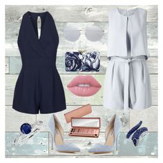 """Style Diary #86: Navy Blue Besties"" by xxfree-soulxx on Polyvore featuring WallPops, Effy Jewelry, Topshop, Miss Selfridge, Steve Madden, Urban Decay, Talbots, Blue Nile, Linda Farrow and Lime Crime"