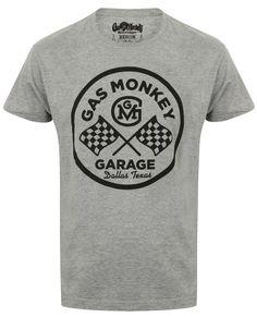 0d90582cd53a6 GMG Circle Logo (Grey) - Gas Monkey Garage GMG Circle Logo T-Shirt