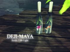 my works : Bottle Fish Light