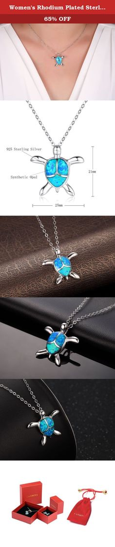 Women's Rhodium Plated Sterling Silver Synthetic Blue Opal Sea Turtle Pendant Necklace. Canmiya committed herself to providing perfect jewelry and top notch service. Just feel free to contact us when you need help. We are always here ready to help you! Sterling Silver History Experts believe that silver alloy, used today as sterling silver, originated in continental Europe in the 12th century. Pure silver was found to be a soft and easily damageable material. When combined with other…
