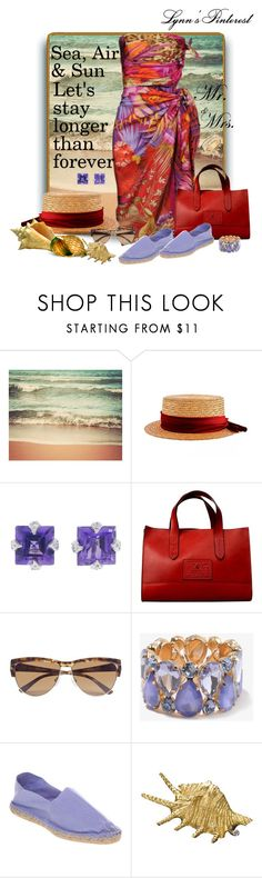 """""""A Relaxing Day With My Must Have Espadrilles."""" by lynnspinterest ❤ liked on Polyvore featuring Retrò, Salvatore Ferragamo, Cathy Waterman, Ralph Lauren Collection, GUESS by Marciano, Forever 21, Betteridge, Office and Buccellati"""