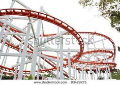 stock photo : Roller Coaster Track