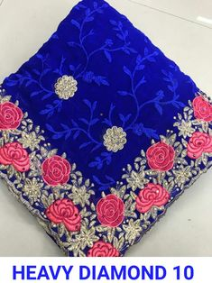 Designer Net Embroidered Bollywood Sarees from Ubig Fashion