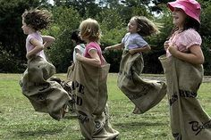 Sack races, games for kids (and big kids!) Where can we get some sacks? Fun Games, Games For Kids, Party Games, Activities For Kids, Backyard Games, Outdoor Games, Outdoor Fun, Fall Festival Games, Easter Festival