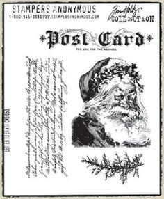 *Tim Holtz Cling Rubber Stamps LETTER TO SANTA Christmas Stampers Anonymous
