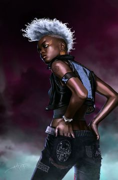 Storm by ~Rahzzah  I think we can all agree, that Punk Rock Storm was the best Storm…  All said...via http://charactermodel.tumblr.com/