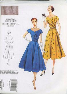 Vogue Original Design 1043 Dress Sewing Pattern | Etsy