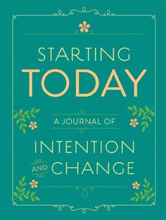 """Writing down daily intentions (such as """"focus on the present,"""" or """"be a better listener"""") helps readers work toward becoming the person they want to be, one small step at time. Filled with a year's worth of insightful prompts and uplifting quotes, this invaluable journal provides space to declare intentions, reflect on progress, and live life a little better— starting today."""