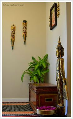 Simple, global-desi entry way decor
