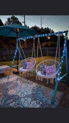 Backyard Patio Designs, Backyard Projects, Outdoor Projects, Backyard Landscaping, Home Projects, Backyard Makeover, Outdoor Living, Outdoor Decor, Outdoor Swings