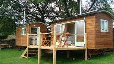 Exterior of the Huts | Sugar Loaf Barn