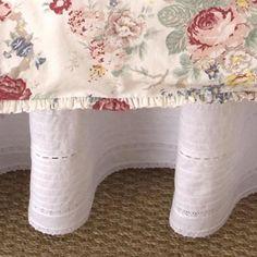Elisa Pintuck Linen Bed Skirt