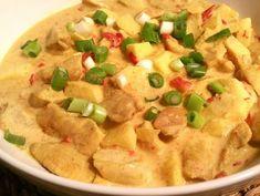 Kip madras zonder pakjes Indian Food Recipes, Healthy Recipes, Ethnic Recipes, Tandoori Masala, Curry, Good Food, Yummy Food, Healthy Slow Cooker, Dutch Recipes