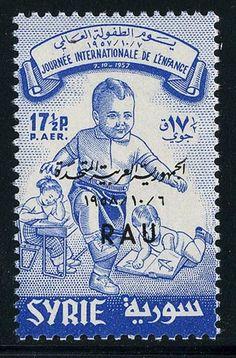 Syria 1958 International Childrens Year 17.5P Rau Opt Unmounted Mint.