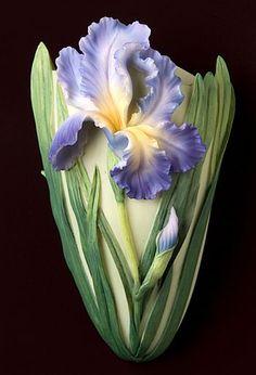 Bearded Iris Wall Decor/Wall Vase