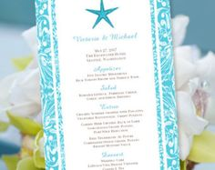 "Background Templates For Microsoft Word Adorable Printable Wedding Menu Template ""it's Love"" Guava  Editable Word ."