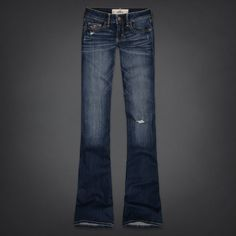 Girls Hollister Flare Jeans | blue jeans and shorts | Pinterest ...