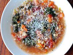Dinner Tonight: Italian Kale and Farro Soup