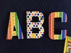 ABC by Ribbonnthreads on Etsy