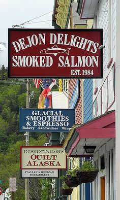 Shopping in Skagway, Alaska... this is what credit cards were made for... Haha...  I must visit the quilt shop!