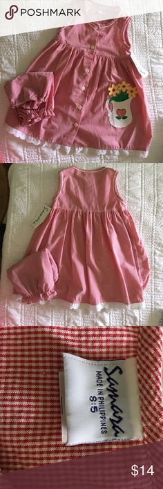 Dress.  NWT Red Checked Summer Dress & Bloomers Samara Dresses Casual