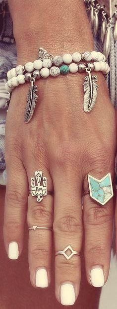 ≫∙∙ boho, feathers + gypsy spirit ∙∙≪ #jewelrybracelets
