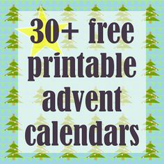 MeinLilaPark – digital freebies: ☞ 30 + Free printable Christmas Advent Calendars - ausdruckbare Adventskalender - links