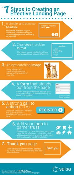 7 Steps Effective Landing Page http://fleetheratrace.blogspot.co.uk/2014/12/top-10-tips-for-improving-website-conversion.html #conversion #conversionoptimization #conversionrateoptimization tips and tricks #infographic
