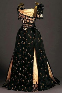 Victorian reception dress 1890