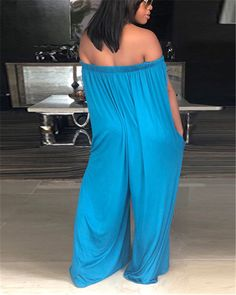 boutiquefeel / Oversized Stretchy Off Shoulder Loose Jumpsuit Long Jumpsuits, Jumpsuits For Women, Casual Jumpsuit, Pattern Fashion, Dresses For Sale, One Piece, Fashion Outfits, Clothes For Women, Shoulder