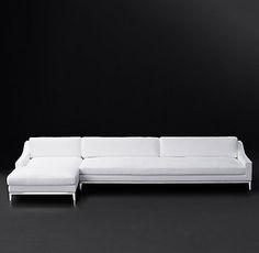 Italia Slope Arm Fabric Sectional | RH Modern