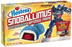 Transformers Hostess Snacks