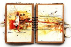 inside pages of a journal by Finnabair.