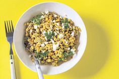 A fresh salad using seasonal sweetcorn with a touch of Mexican flavours of coriander and limes.