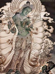 Art nouveau design illustration backgrounds 62 Ideas for 2019 Art Deco Paintings, Mural Painting, Indian Paintings, Art Nouveau Design, Design Art, Thangka Painting, Tibetan Art, Beautiful Fantasy Art, Sad Art