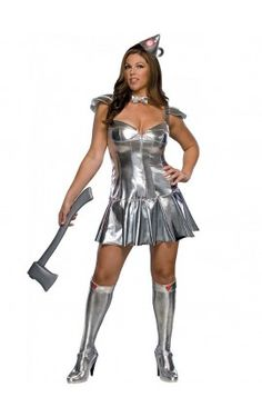 wizard of oz costumes dazzle in this sexy tin woman plus size costume designed to make you look stunning officially licensed wizard of oz costume - Dorothy Halloween Costume Women