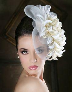 Azalea Flower Photo by Headpiece Wedding, Wedding Veils, Bridal Headpieces, Fascinator Hats, Fascinators, White Fascinator, Fancy Hats, Love Hat, Model Photographers
