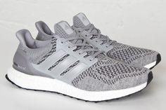 The adidas Ultra Boost Grey is the latest adidas Ultra Boost to release that is fully dressed in an all-Grey Primeknit mesh upper and a White Boost sole.