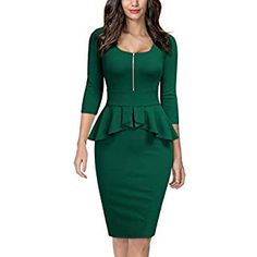 Looking for Miusol Women's Retro Square Neck Ruffle Style Slim Business Pencil Dress ? Check out our picks for the Miusol Women's Retro Square Neck Ruffle Style Slim Business Pencil Dress from the popular stores - all in one. Latest African Fashion Dresses, Women's Fashion Dresses, Casual Dresses, Fashion Hair, Women's Dresses, Classy Dress, Classy Outfits, Trendy Outfits, The Dress