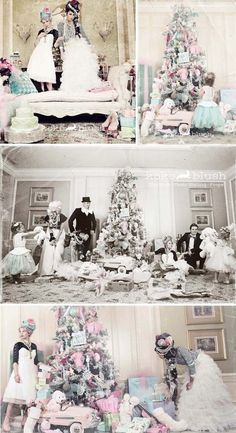 Marie Antoinette Holiday Christmas party full of decorating ideas! Love the tree! Via KarasPartyIdeas.com