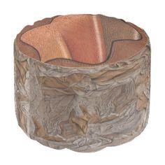 Leather texture Poufs Round Pouf