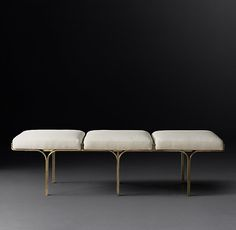 1960s Link Fabric Bench