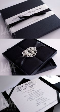 Thai silk invitation box by Lava Stationery