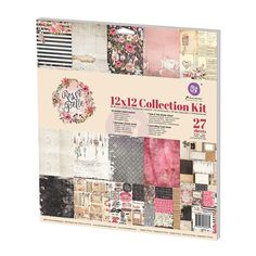 New Reneabouquets Item Listing~Prima Rossibelle Collection Kit 12 x 12  Scrapbook New Release In Stock Ready To Ship