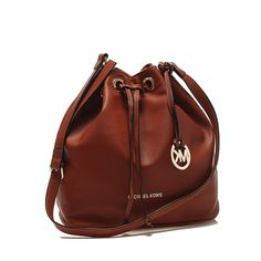 Michael Kors Miranda Large Leather Messenger Brown