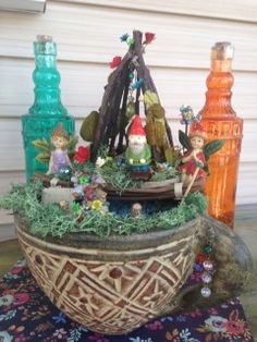 Make this for the price of one online 'Fairy Accessory'. Online S, Plant Hanger, Dollar Stores, Planter Pots, Fairy, Garden, Plants, How To Make, Home Decor